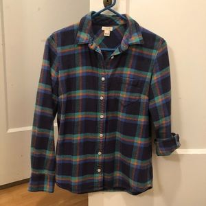 J.Crew plaid flannel shirt